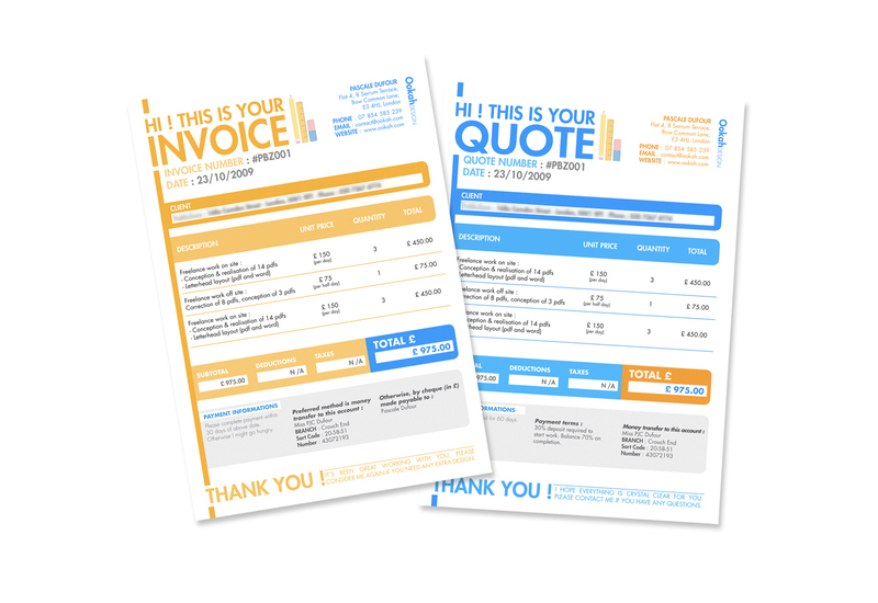 30 creative invoice designs you would love to send yourself invoice quote design thecheapjerseys Choice Image