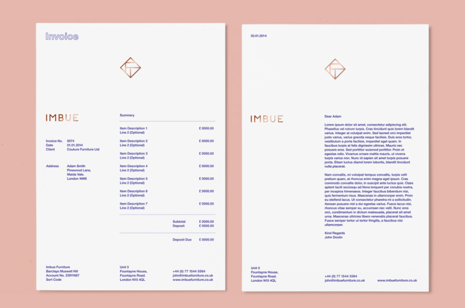 Creative Invoice Designs You Would Love To Send Yourself - Corporate invoice template