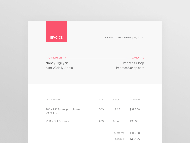30 Creative Invoice Designs You Would Love To Send Yourself