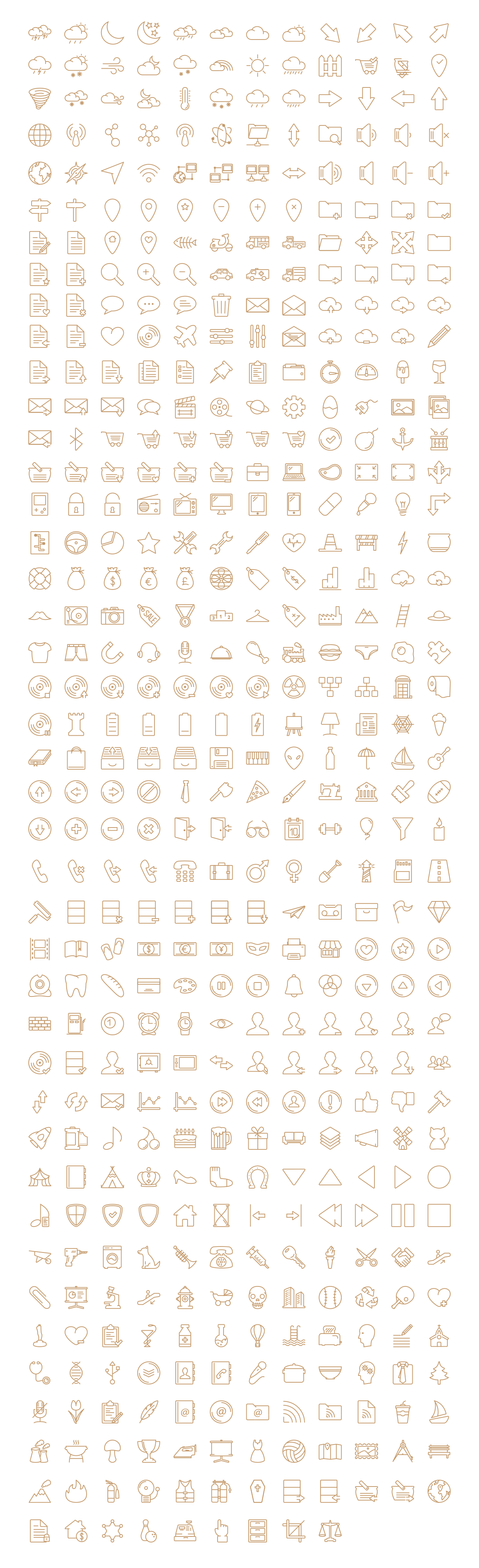 simple-outline-icons