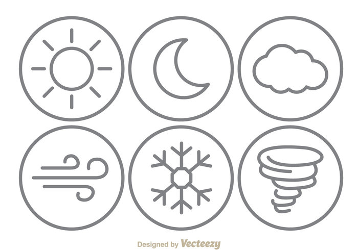 weather-line-icons-vector