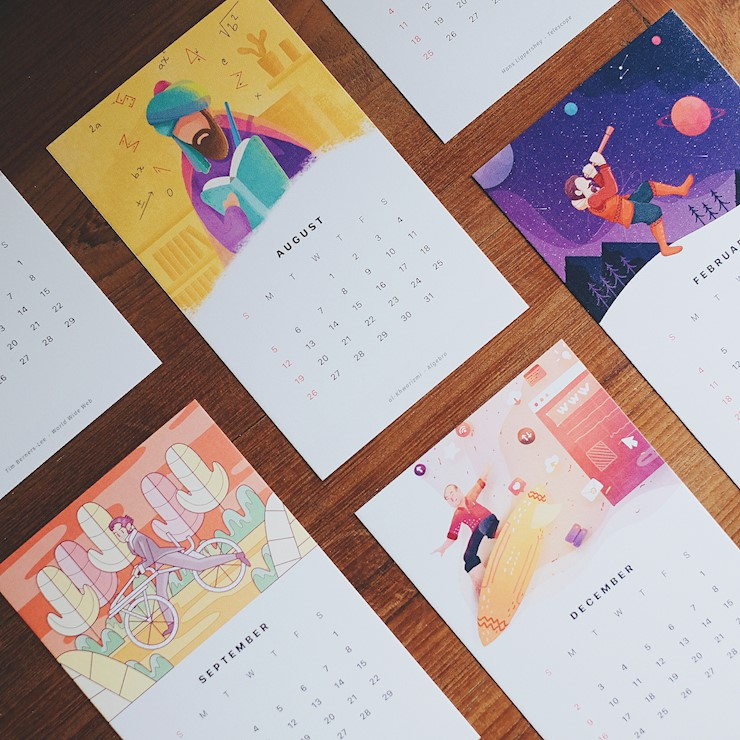 more illustrations for the 2018 calendar